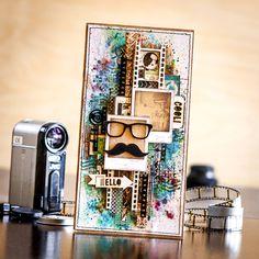ScrapBox - уникальные материалы для скрапбукинга: Box of inspiration с Таней Рязановой : Открытки с самодельным фоном