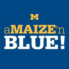 Maize n Blue! Michigan Quotes, Michigan Facts, Michigan Go Blue, State Of Michigan, University Of Michigan Logo, College Football Teams, Football Baby, Daddy Go, Michigan Wolverines Football
