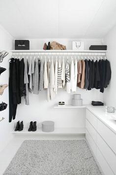 Begehbarer Kleiderschrank, der Traum jeder Frau