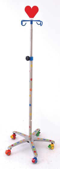 """Love this IV pole, topper, very """"Queen of Hearts"""""""