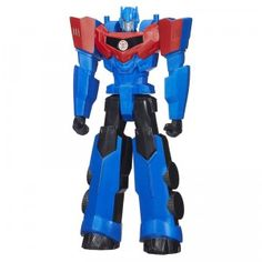 Transformers Robots in Disguise Titan Heroes Optimus Prime by Hasbro is an 11-inch action figure from the Transformers world. Download the free app for additional play.