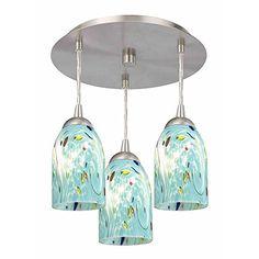 3-Light Semi-Flush Ceiling Light with Turquoise Art Glass... https://www.amazon.com/dp/B00GHJJF2C/ref=cm_sw_r_pi_dp_x_IMxnzb9BM814X