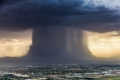 Rare macroburst or 'rain bomb' of rain over Scottsdale, Arizona July 18, 2016   Photo 2 of 2  by Bruce Haffner  @chopperguyhd