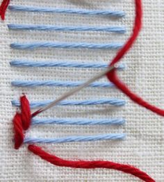 Stem stitch, chain stitch, french knot; it isn't often you come upon a stitch that is actually named after someone. The burden stitch is a...