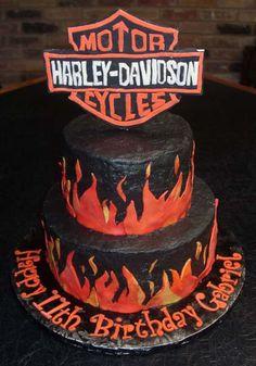 Motorcycle theme cake