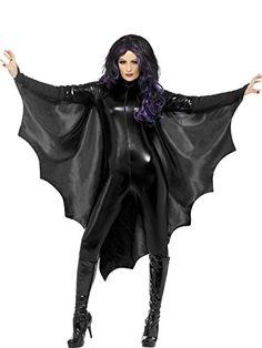 *Werbung* Smiffy's 23133 Vampir-Fledermausflügel, Einheitsgröße - Ein Vampirkostüm ist Ihnen zu langweilig und eintönig, da es jeder trägt? Hier mal was anderes! Die Vampirflügel lassen Ihr Kostüm richtig hervorheben und die anderen Vampire werden noch bleicher als Sie eh schon sind ;) Farbe: Schwarz Größe: Einheitsgröße Material: 100% Polyester Lieferumfa...