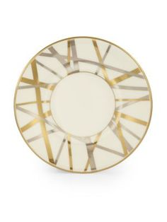 "Kelly Wearstler Mulholland Porcelain B&B Plate, 6¼"". $58.00 each at Saksfifthavenue.com, 5/14/16"