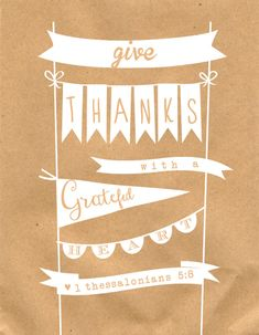 Free Give Thanks Printable Download at @anightowlblog #printables #thanksgiving
