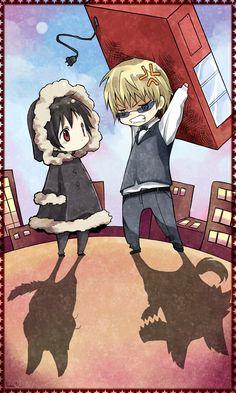 Shizuo and Izaya from Durarara