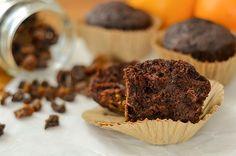 Muffins de algarroba y zanahoria. Una receta rica, saludable y natural.