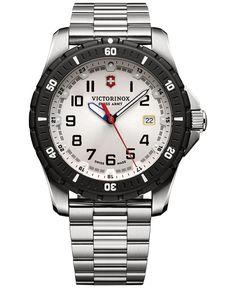 Victorinox Swiss Army Men's Maverick Sport Stainless Steel Bracelet Watch 43mm 241677