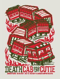 Death Cab for Cutie 2009 Concert poster by Furturtle Show Prints $25.00