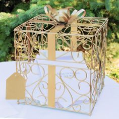 Square Reception Gift Card Holder [228-1943 Wedding Card Holder Box] : Wholesale Wedding Supplies, Discount Wedding Favors, Party Favors, and Bulk Event Supplies