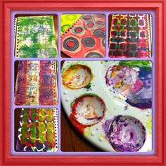 Layers of Gelli Prints make the pages full of texture and color.
