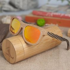 ab73b07ffe7 BOBO BIRD Striped Leg Bamboo Sunglasses with Orange Lenses. Travel  StyleTravel FashionWooden ...
