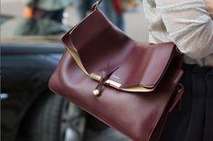 Love this oxblood crossbody bag!