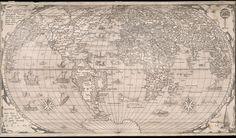 1562 Untitled map of the world  Gastaldi Giacomo