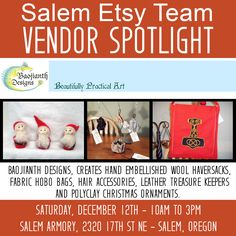 Salem Etsy Team  Holiday Craft Fair December 12 2015 Salem