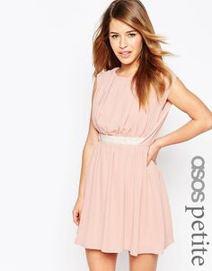 ASOS+PETITE+Embellished+Waist+Mini+Dress