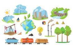 Energy Eco Resources Graphics Energy Eco Resources. Vector Illustration Collection mining of energyOriginal elements to create y by TopVectors