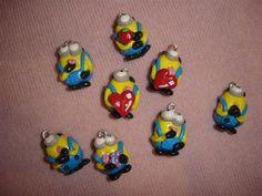 CIONDOLO  per bijoux collane bracciali orecchini in fimo - mini minions