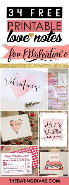 TONS of darling love notes and cards for the hubby for Valentine's Day! These are seriously cute. www.TheDatingDivas.com