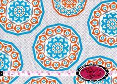 CYPRUS MEDALLION Fabric by the Yard  Large Geometric by FabricBrat, $2.25