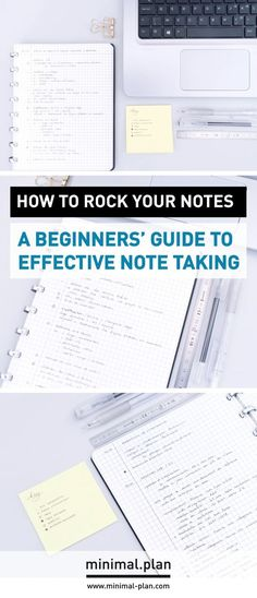 Taking great notes isn't so hard but it asks for some organization and dsicipline. Effective note taking techniques can help you save a lot of time and energy. Here's how to use them. / Note taking, taking notes, note taking technique, effective note taking, Cornell method, productivity tips, project management