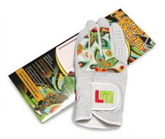 Mens & Womens Golfing Gloves by Loudmouth Golf - Shagadelic White/White.  Buy it @ ReadyGolf.com