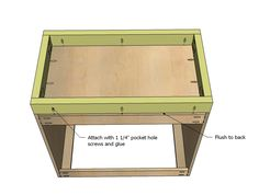 Ana White | Build a Kitchen Cabinet Sink Base 36 Full Overlay Face Frame | Free and Easy DIY Project and Furniture Plans