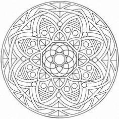 Mandala graphic idea for bedroom wall