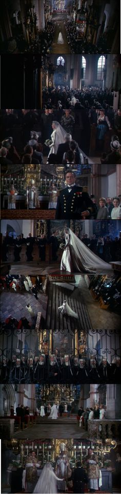 """The Sound of Music 1965 Maria getting married to Captain Von Trapp while the song """"Maria"""" as background for this scene."""
