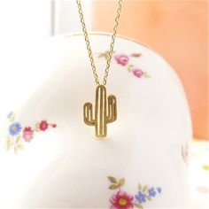 61d29b4ae ... Comprar Nuevo moderno minimalista lindo encanto de las muchachas  joyería desierto planta Cactus colgante collar mejores regalos de Navidad  para mujeres ...