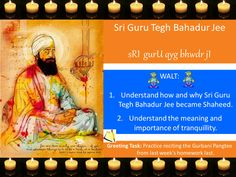 Sri Guru Tegh Bahadur Lesson