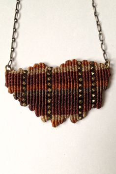 FREE SHIPPING 1 of 3 Freeform Macrame Necklaces by ByKateMoran.