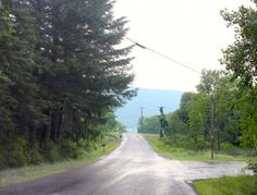 Spook Hill in Middlesex, NY -- where your car rolls backwards UP a hill! #hauntednys #hauntedroadtrip #roadtrip #newyork