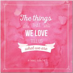 Fridge Magnet - The Things That We Love. Our Love, Magnets