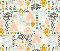 All Signs Point Southwest fabric by katherinelenius on Spoonflower - custom fabric