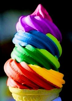 #Rainbow #colors ice cream soft serve #icecream food ToniK ❖de l'arc-en-ciel❖❶ m.lovethispic.com