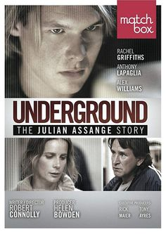 Underground: The Julian Assange Story is a biopic about the young Julian Assange. Directed by Robert Conelly, and starring Rachel Griffiths (as Christine Assange), Anthony La Paglia, and Alex Williams (as Julian Assange). Movie List, Movie Tv, Rachel Griffiths, Anthony Lapaglia, Hacking Books, Alex Williams, Story Writer, Movies Worth Watching, Political Memes