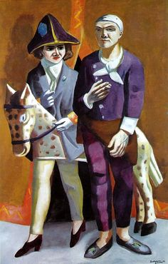 Carnival, the Artist & His Wife, 1925, Max Beckmann