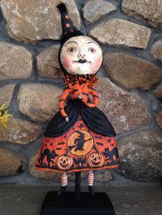 Bethany Lowe-DEBRA SCHOCH-BIG GOTH GIRL IN PARTY DRESS-New HALLOWEEN Fall 2014