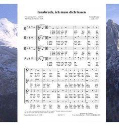 Heinrich ISAAC : Innsbruck, ich muss dich lassen. Une fameuse chanson de la Renaissance écrite par un compositeur admiré de Bach et de bien d'autres. Carl Orff a également harmonisé cette mélodie - Partitions pour chœur à 4 voix mixtes (SATB) - Editions Musiques en Flandres - référence MeF 617