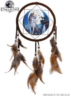 NEMESIS NOW Blue Moon Wolf Dream Catcher  WWW.WINGS-IN-THE-NIGHT.CO.UK | We Ship Worldwide  http://www.wings-in-the-night.co.uk//nemesis-now-blue-moon-wolf-dream-catcher---david-penfound-7727-p.asp #nemesisnow #Wolf