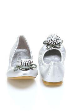 Ballet Flats In Silver