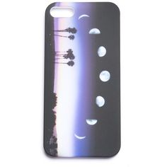 Crescent Moon iPhone 5 Case ($7) ❤ liked on Polyvore featuring accessories, tech accessories, phone cases, phones, iphone, cases, iphone cover case, iphone cases and apple iphone case