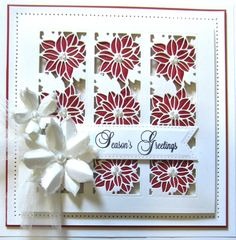 poinsettia striplet cards | PartiCraft (Participate In Craft): October 2015