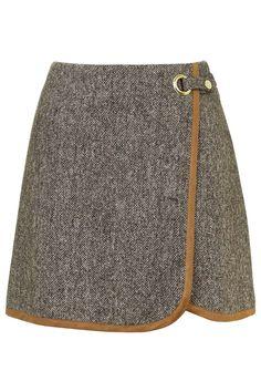 Photo 1 of Tweed Wrap Front Pelmet Skirt