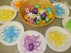 Easter Egg Color Nests Fun for Libby Easter Craft Activities, Preschool Ideas, Easter Crafts, Crafts For Kids, Easter Egg Basket, Coloring Easter Eggs, Tot School, Hoppy Easter, Toddler Fun