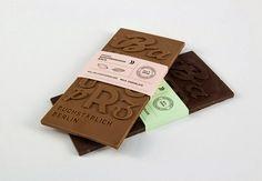 Chocolate tipográfico como souvenir para un museo